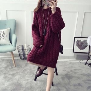 Sweaters - Cable Knit Dress